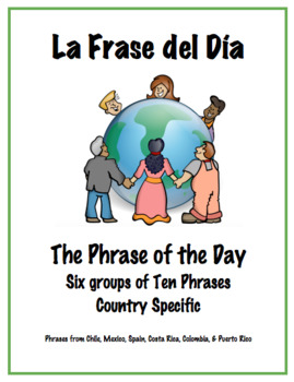 "Promote Speaking with Daily ""Phrase of the Day"" Warm-up - Spanish III"