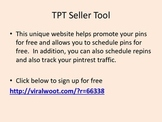 Promote Your TPT Products Via Free Pintrest Scheduling Tool