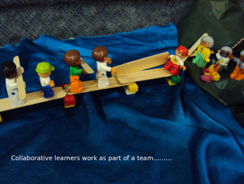 Promote teamwork using toys/Lego story!