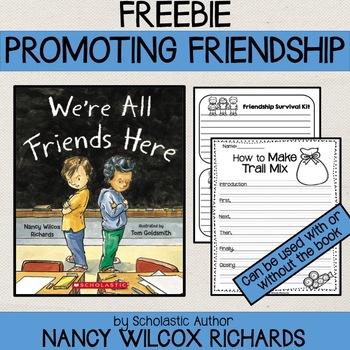 Promoting Friendship Freebie - Activities, Writing, Snack Ideas, Art...