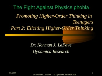 Promoting Higher-Order Thinking in Teenagers 2