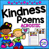 Promoting Kindness Acrostic Poems #kindnessnation #weholdthesetruths