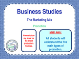 Promotion - The Marketing Mix - The 4 P's - PPT & Workshee