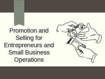 Promotion and Selling for Entrepreneurship