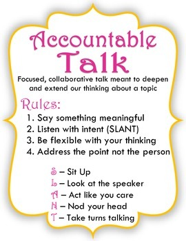 Prompt Participation in Accountable Talk Posters