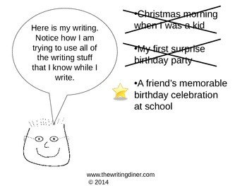 Prompt Practice - Celebrations from The Writing Diner