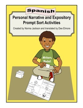 Prompt Sort (Narrative & Expository) Preparation for STAAR - Spanish