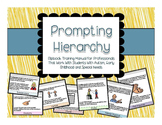 Prompting Hierarchy- Flip book Manual Special Ed Professionals