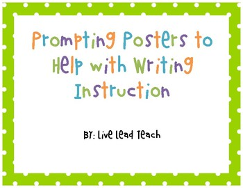 Prompting Posters for Writing Instruction