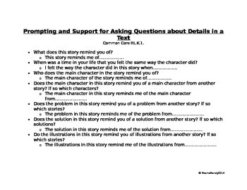 Prompting and Support for Asking Questions