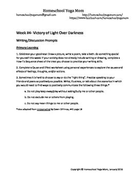Writing Prompts- Victory of Light Over Darkness