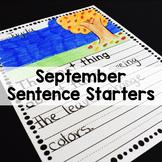 September Sentence Starters Writing Prompts