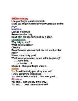 Prompts for Guided Reading, Writing, and Word Work