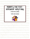 Prompts for Text-Dependent Questions