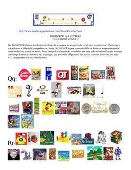 Promptz-Environmental Print Clip Art Letterz Q-Z