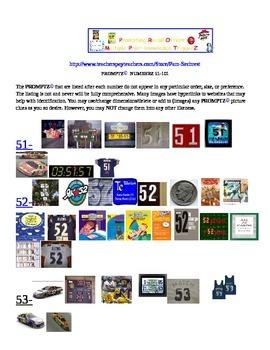Promptz-Environmental Print Numberz 51-101 Clip Art