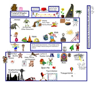 Promptz Wigglez Kids and School Animated Clip Art