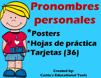 Pronombres Personales by Cantu\'s Educational Tools | TpT