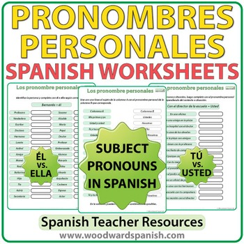 Pronombres Personales Spanish Worksheets