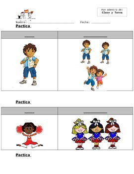 Pronombres Sujetos (Subject Pronouns) Fill In Notes Sheet