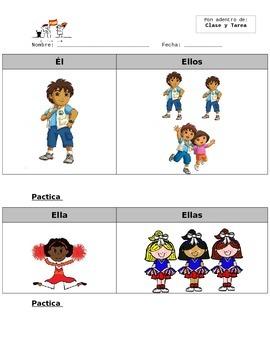 Pronombres Sujetos (Subject Pronouns) Highlight Notes Sheet