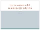 Pronombres de Complemento Indirecto / Indirect Object Pronouns