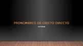 Pronombres de Objeto Directo - Actividad