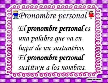 Pronombres personales - Personal pronouns (Spanish)