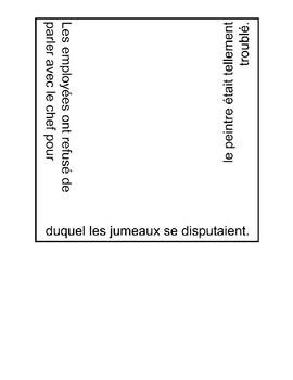 Pronoms Relatifs Puzzle - French Relative Pronouns Puzzle