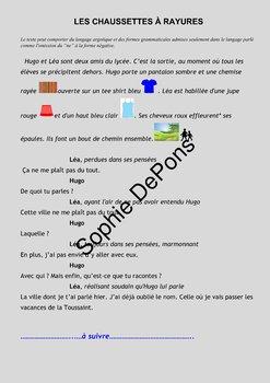 French story - Les pronoms relatifs -  Les chaussettes rouges
