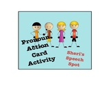Pronoun Action Card Activity
