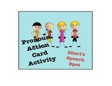 Pronoun Action Card Activity