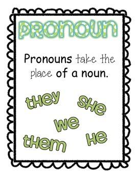 Pronoun Activities
