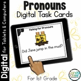 Pronoun Grammar Task Cards: 1st Grade Google Classroom Dis