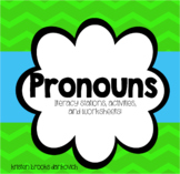 Pronoun Activities, Literacy Stations, and Worksheets!