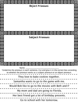 Pronoun Activity Pack
