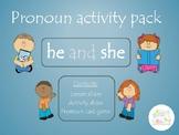 Pronoun Activity Pack (he she)