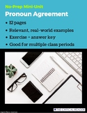 Pronoun Agreement: Lesson + 3 Worksheets
