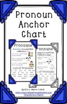 Pronoun Anchor Chart