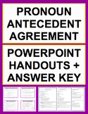 Pronoun Antecedent Agreement Activities - Worksheets, Powerpoint & Answer Key