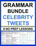 Celebrity Tweets Grammar Bundle of 9 No Prep Lesson Plans & Worksheets 65% OFF