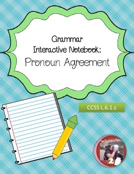 Pronoun Antecedent Agreement Interactive Foldables and Resources