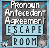 Pronoun Antecedent Agreement Review Escape Room