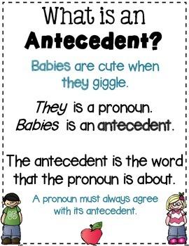 Pronoun Antecedent Agreement Sort
