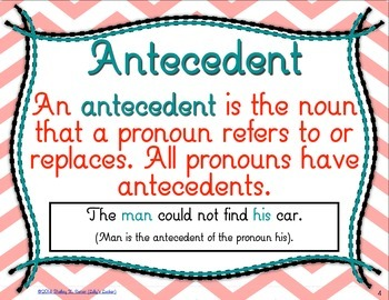 pronoun antecedent agreement task cards by lolly s locker tpt