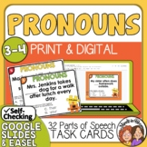 Pronoun Antecedent Agreement Task Cards CCSS.ELA.L.3.1f