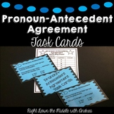 Pronoun-Antecedent Agreement Task Cards