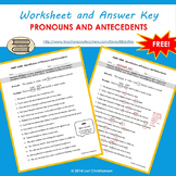Pronoun-Antecedent Identification Worksheet