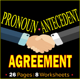 Pronoun Antecedent Agreement Worksheets | Assessments | Reviews | ELA