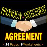 Pronoun Antecedent Agreement Worksheets | Assessments | Reviews | ELA